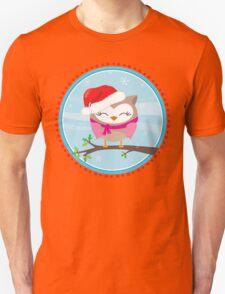 FESTIVE CHRISTMAS T-SHIRT :: girl owl day time Unisex T-Shirt