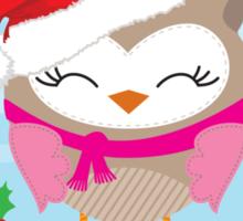 FESTIVE CHRISTMAS T-SHIRT :: girl owl day time Sticker