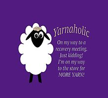 Yarnaholic lamb is on the way to rehab by M Fernandez