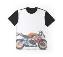 Illustrated Graphic Tee -  Honda Repsol Motorcycle Graphic T-Shirt