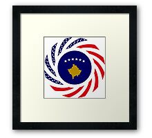Kosovar American Multinational Patriot Flag Series Framed Print