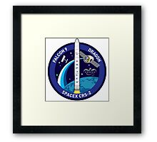 SpaceX Falcon 9 Dragon Patch Framed Print