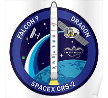 SpaceX Falcon 9 Dragon Patch Poster