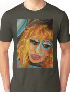 Fashionista in Coral and Blue Unisex T-Shirt