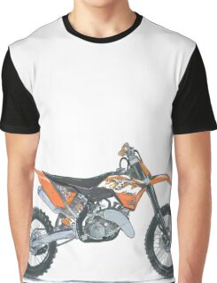 Illustrated Graphic Tee - KTM Enduro Motorcycle - Dirt Bike Graphic T-Shirt
