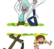 Rick and Morty - Portal hop by MALdraws