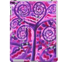 Purple Tree Little Silver Hearts Acrylic Painting iPad Case/Skin