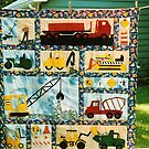 Truck Boy Quilt by quiltmaker