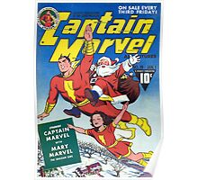 CAPTAIN MARVEL CHRISTMAS GOLDEN AGE SHAZAM Poster
