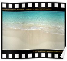 Nostalgia Collection • Islands of The Bahamas • Pristine Beach and Turquoise Water on Paradise Island Poster