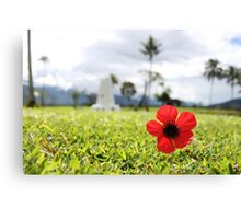 Kokoda Memorial Poppy Canvas Print