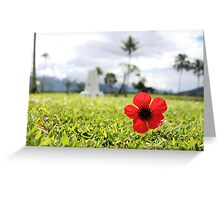 Kokoda Memorial Poppy Greeting Card