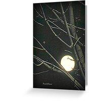 The Moon and Jupiter Greeting Card