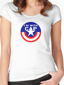 I'm With CAP Women's Fitted Scoop T-Shirt