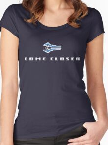 """""""Come Closer"""" - Halo Energy Sword  Women's Fitted Scoop T-Shirt"""
