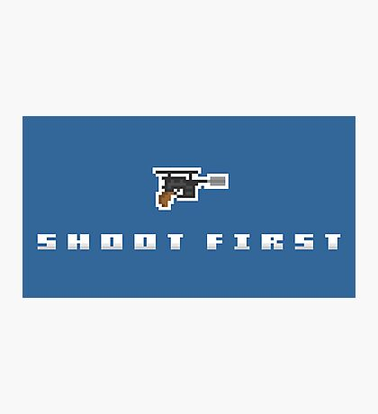 """Shoot First"" - Han Solo  Photographic Print"