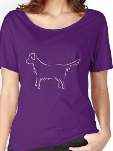Golden Retriever - white Women's Relaxed Fit T-Shirt