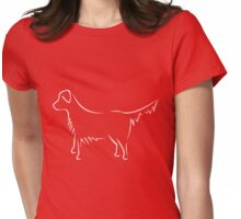 Golden Retriever - white Womens Fitted T-Shirt