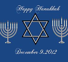 Happy Hanukkah Greeting Card by valleygirl