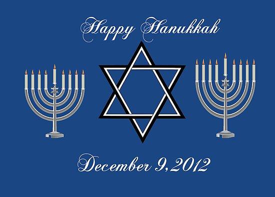 Happy Hanukkah Greeting Card by valleygirl