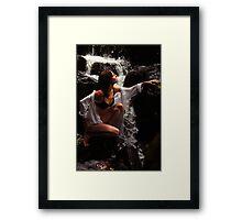 Anna at Eureka Waterfalls, Mauritius Framed Print