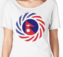 Nepalese American Multinational Patriot Flag Series Women's Relaxed Fit T-Shirt