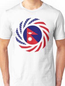 Nepalese American Multinational Patriot Flag Series Unisex T-Shirt