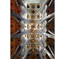 Looking up - Sagrada Familia Photographic Print