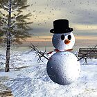 Making snowman in the park by vivien styles