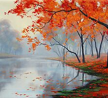 Autumn Lake by Graham Gercken