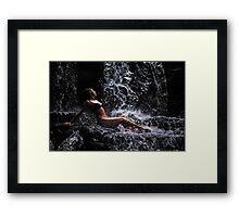 Bliss. Anna at Eureka Waterfalls, Mauritius Framed Print