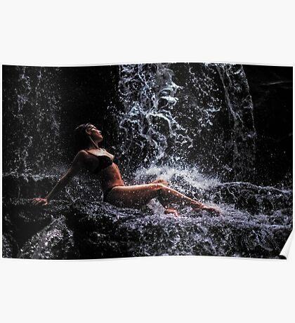 Bliss. Anna at Eureka Waterfalls, Mauritius Poster