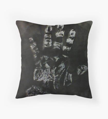 The working hand of a woman, watercolor Throw Pillow