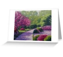 Path into the Park Greeting Card