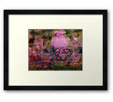 In her garden #2, watercolor Framed Print