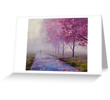 Spring Pathway Greeting Card