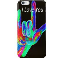 American Sign Language I LOVE YOU on Black iPhone Case/Skin