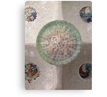 Looking up - Park Guell Canvas Print