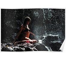 Knowledge. Anna at Eureka Waterfalls. Mauritius Poster