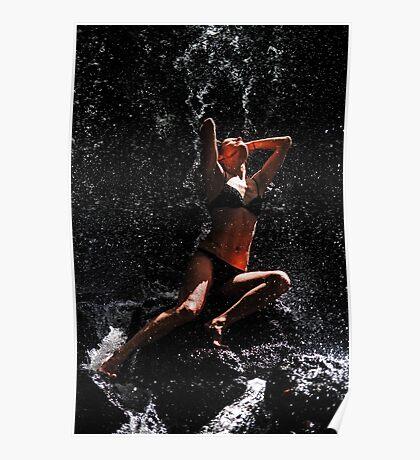 Trust. Anna at Eureka Waterfalls Poster