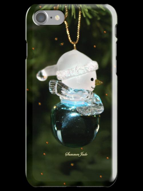 Jingle Bell Snowman ~ iPhone Case  by SummerJade