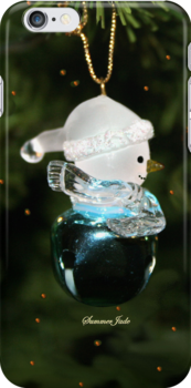 Jingle Bell Snowman ~ iPhone Case  by SummerJade