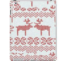 Christmas Jumper Red on White iPad Case/Skin