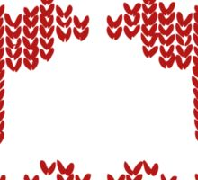 Christmas Jumper Red on White Sticker