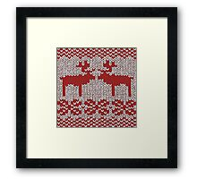 Christmas Jumper Red on White Framed Print