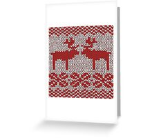 Christmas Jumper Red on White Greeting Card