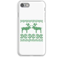 Christmas Jumper Green on White iPhone Case/Skin