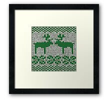 Christmas Jumper Green on White Framed Print