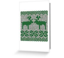Christmas Jumper Green on White Greeting Card