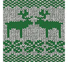 Christmas Jumper Green on White Photographic Print